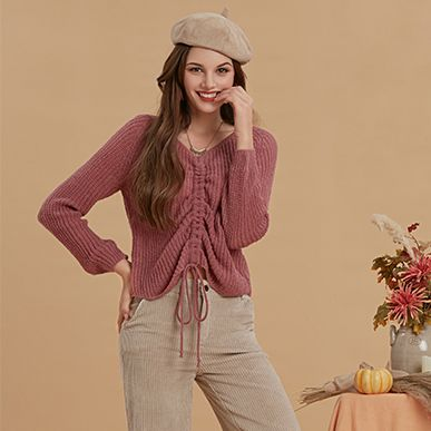 What To Wear With a Knotted Sweater?